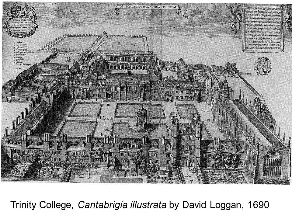 Trinity College, Cantabrigia illustrata by David Loggan, 1690