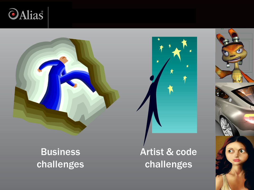 Business challenges Artist & code challenges