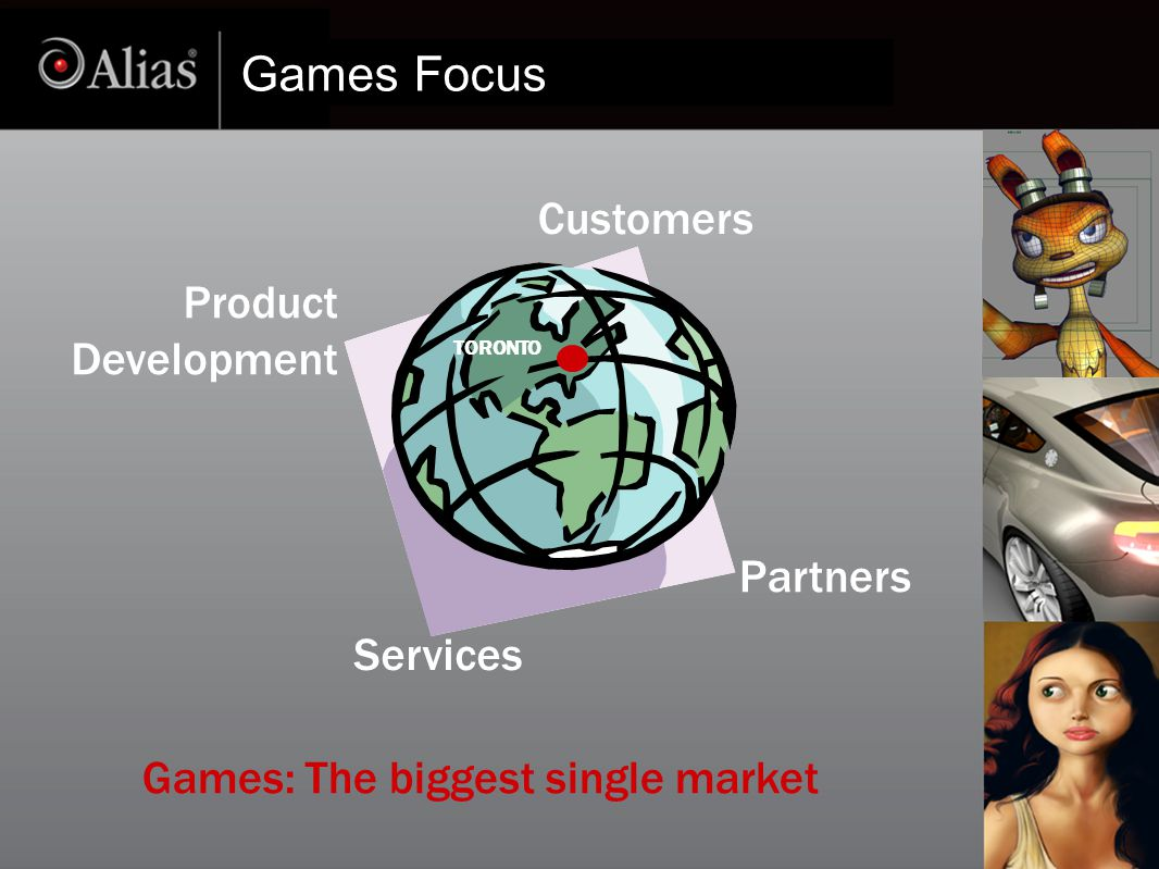 Games Focus Customers Partners Product Development Services TORONTO Games: The biggest single market
