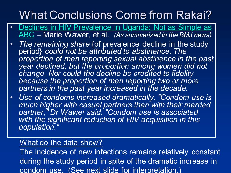 What Conclusions Come from Rakai.