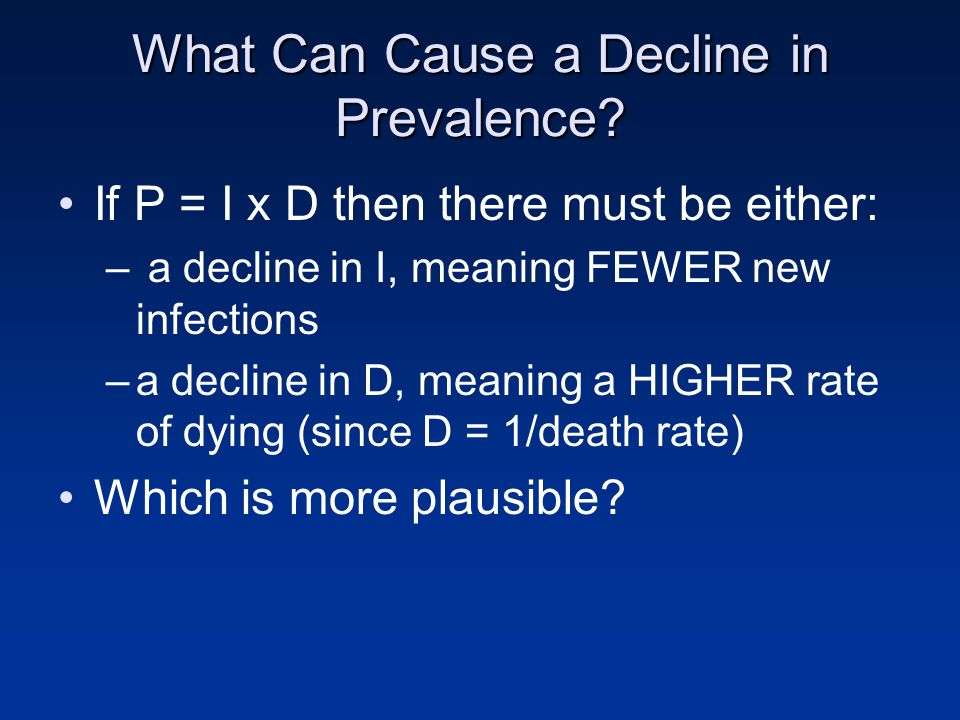 What Can Cause a Decline in Prevalence.