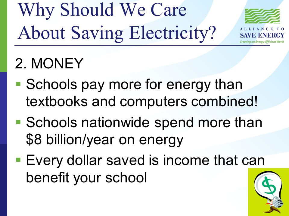 Why Should We Care About Saving Electricity. 2.