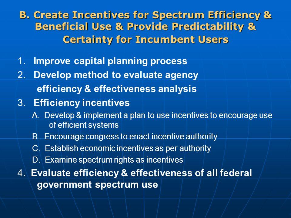 1. Improve capital planning process 2.