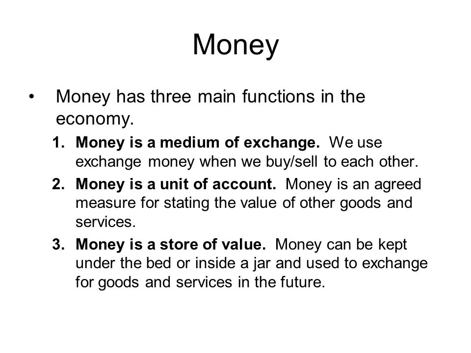 Quantity theory of money So the total supply of money for transactions in a year is v times M: vM.