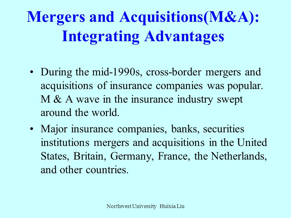 Insurance: Integration and Breakthrough in Competition Northwest University Huixia Liu