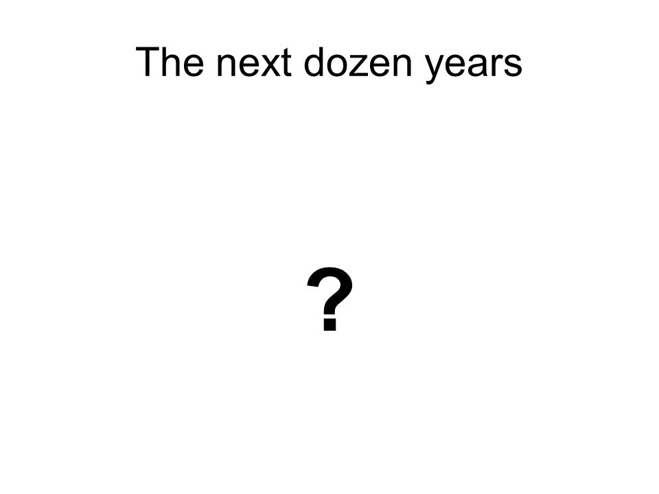 The next dozen years