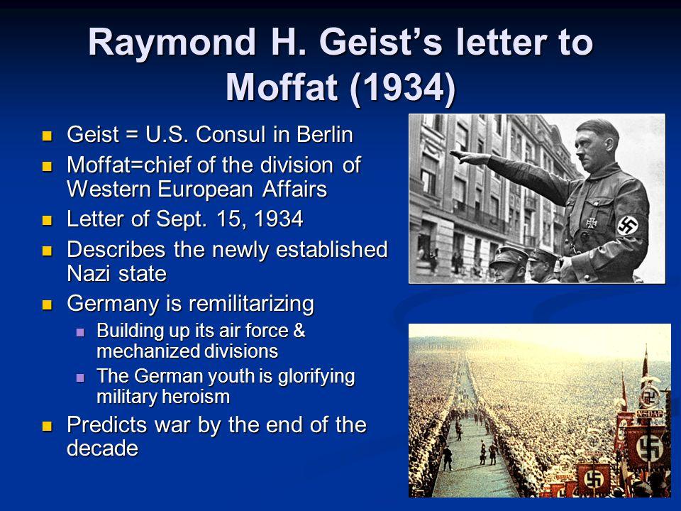 Raymond H. Geist's letter to Moffat (1934) Geist = U.S.