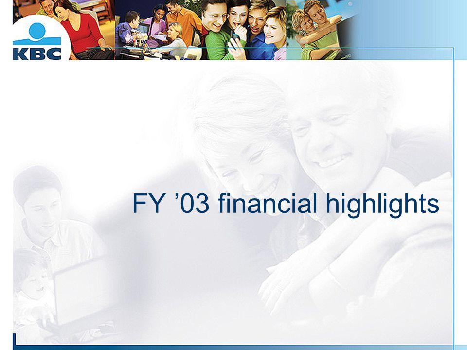 FY '03 financial highlights