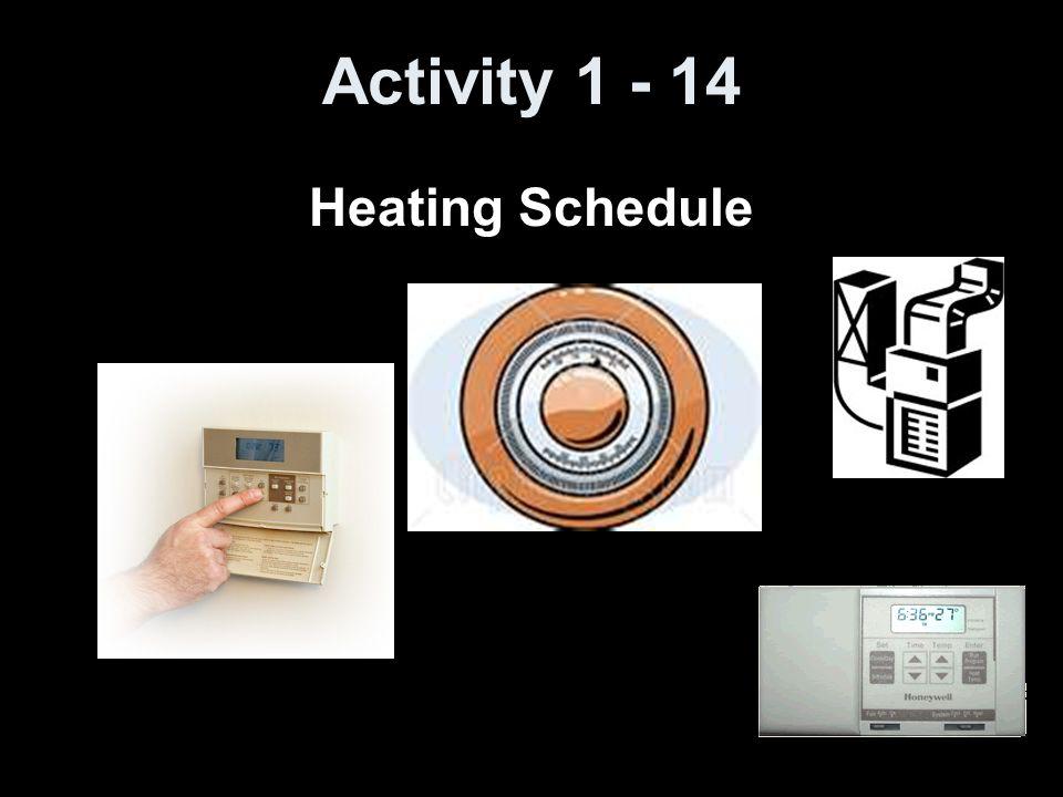Activity 1 - 14 Heating Schedule