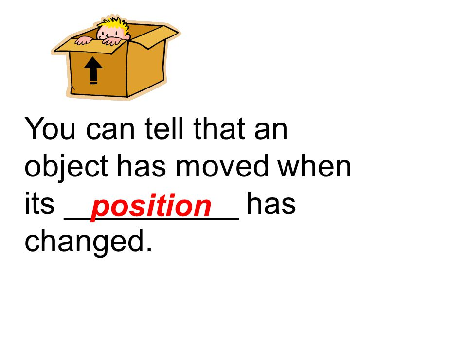 frame of reference The object used for comparing another object to describe its position is called a…