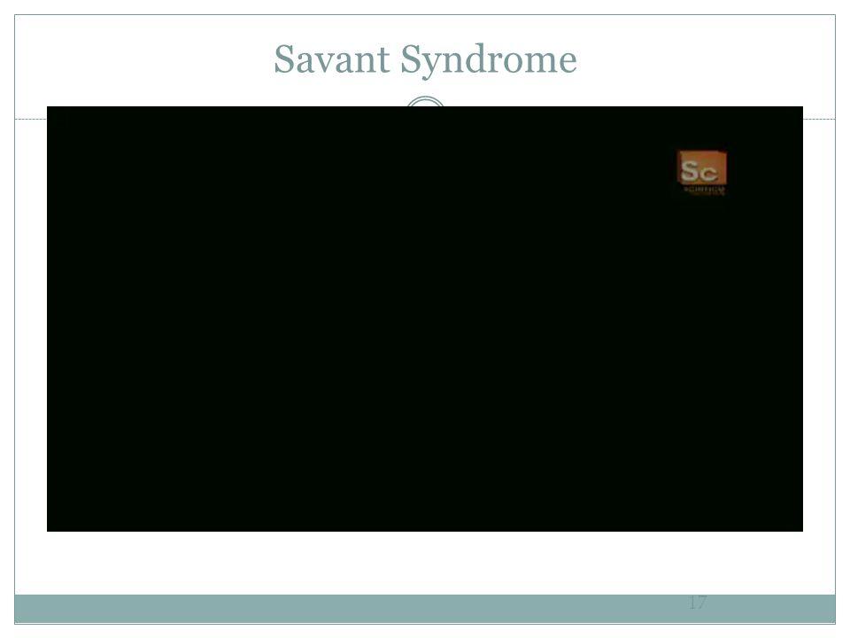 Savant Syndrome 17