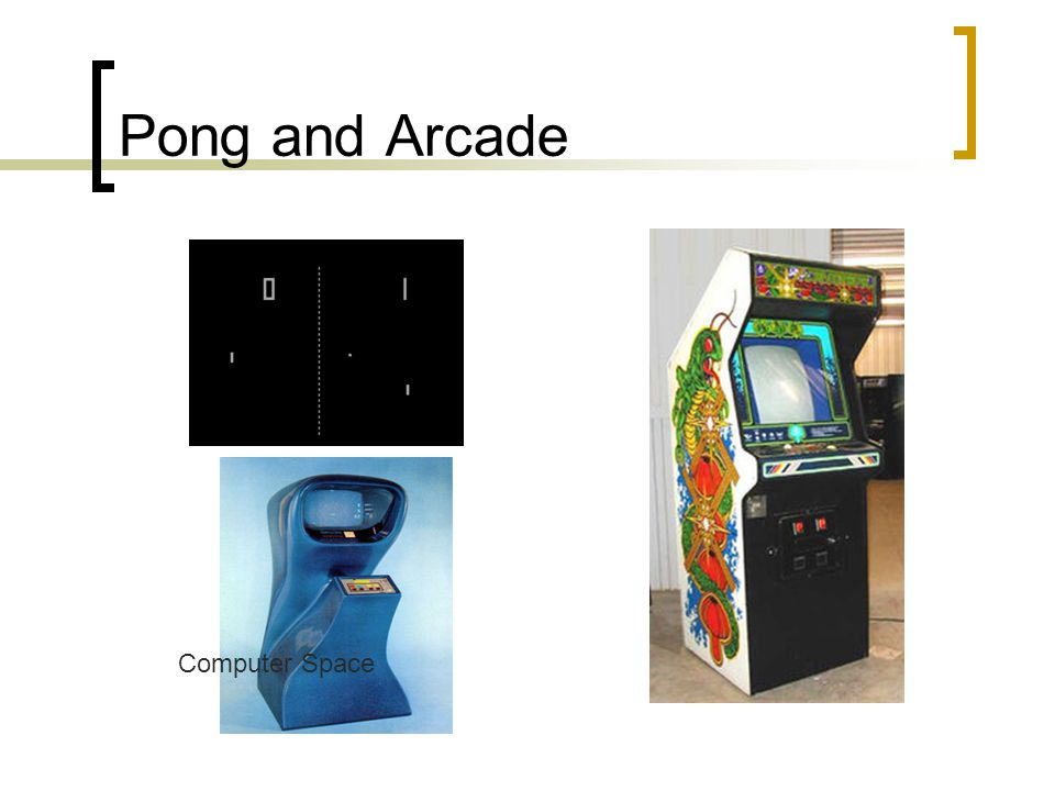 Pong and Arcade Computer Space