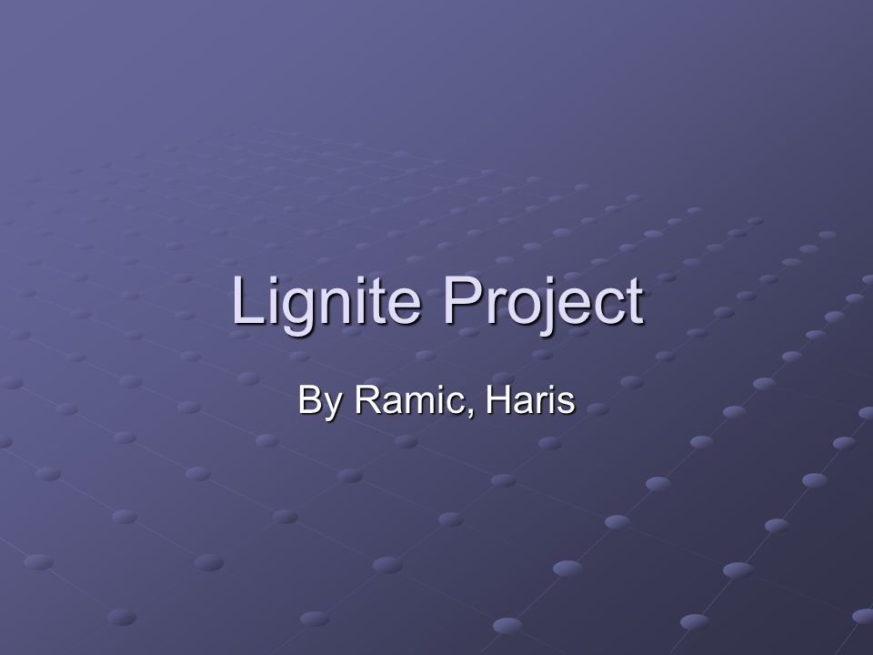 Lignite Project By Ramic, Haris