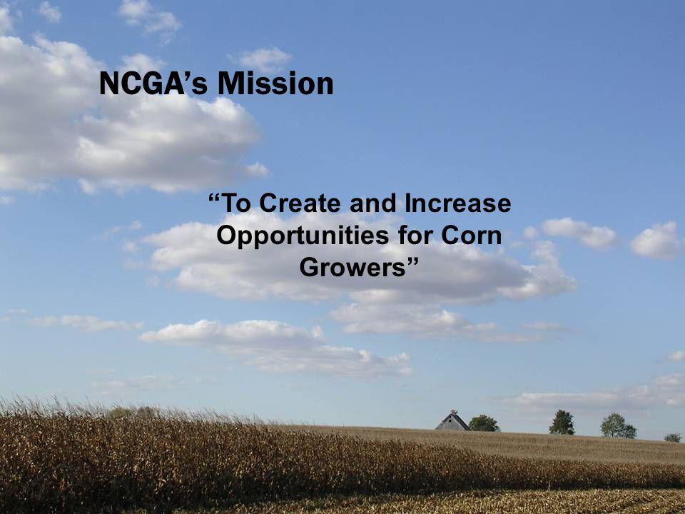 NCGA's Key Priorities Key Issues BiotechnologyTransportation Farm Policy Rural Development TradeEthanol Research & Development Natural Gas