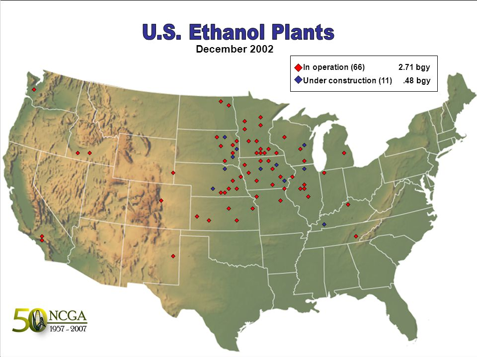 Ethanol Industry Production 316,000 barrels per day (b/d) 2006 production will likely exceed 5 billion gallons