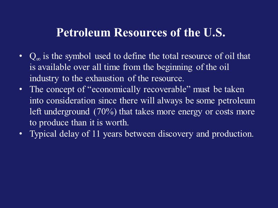 Petroleum Resources of the U.S.
