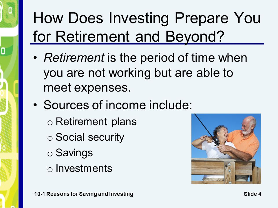 Slide 5 Investment Growth Over Time 10-1 Reasons for Saving and Investing Amount Invested Interest Rate Investment Term Maturity Value $10,000 investment6%20 years$32,071 $10,000 investment6%30 years$57,435 $1,000 investment8%30 years$10,063 $1,000 investment8%40 years$21,725 $1,000 per year investment5%20 years$33,066 $1,000 per year investment5%30 years$66,439 $1,000 per year investment5%40 years$120,800 $100 per month investment7%25 years$81,007 $100 per month investment7%30 years$121,997 $100 per month investment7%40 years$262,481