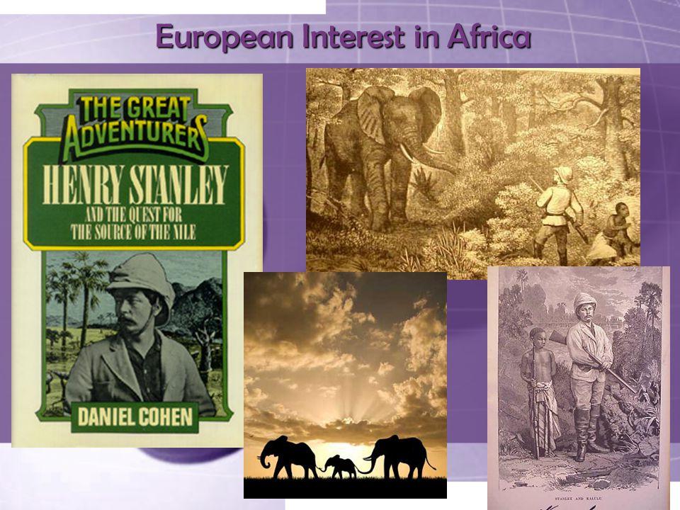 European Interest in Africa