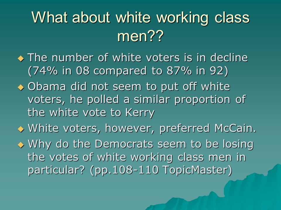 What about white working class men?.