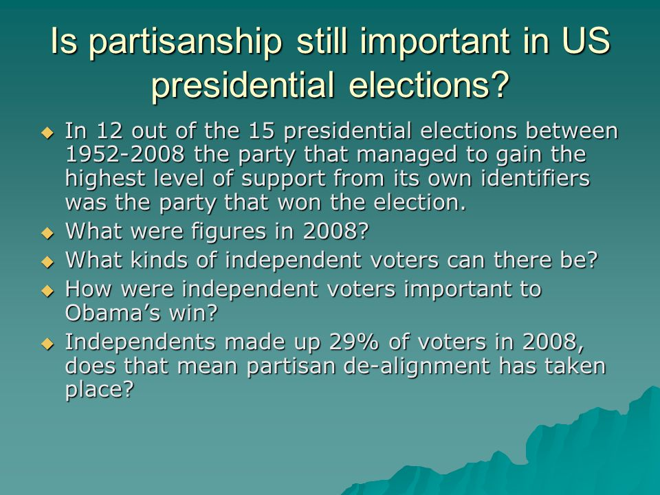 Is partisanship still important in US presidential elections.
