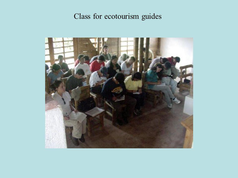 Class for ecotourism guides