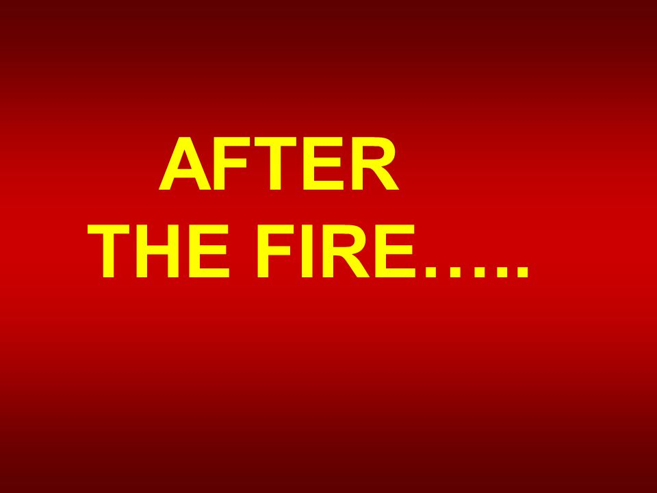 AFTER THE FIRE…..