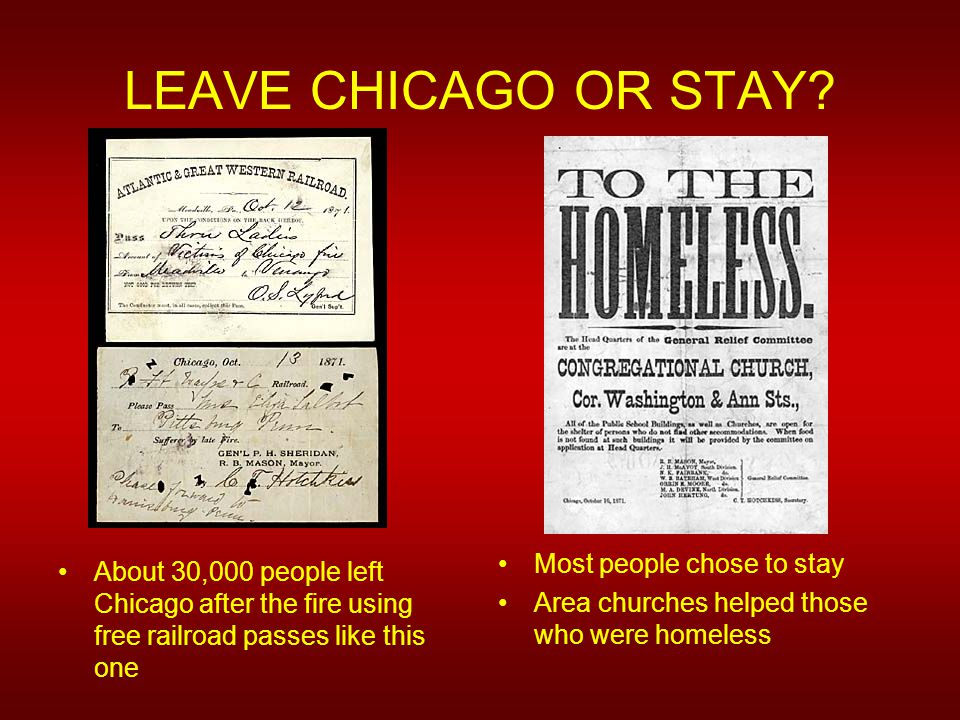 LEAVE CHICAGO OR STAY.