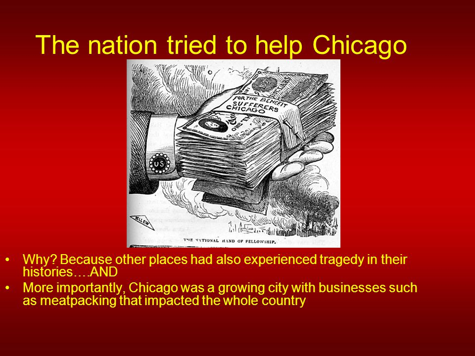 The nation tried to help Chicago Why.