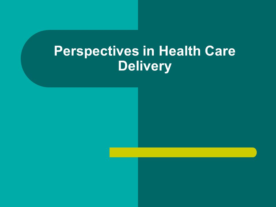 Perspectives in Health Care Delivery