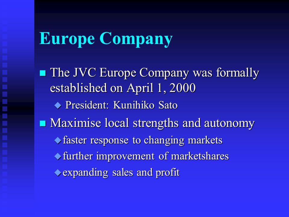 Europe Company JVC Europe Ltd