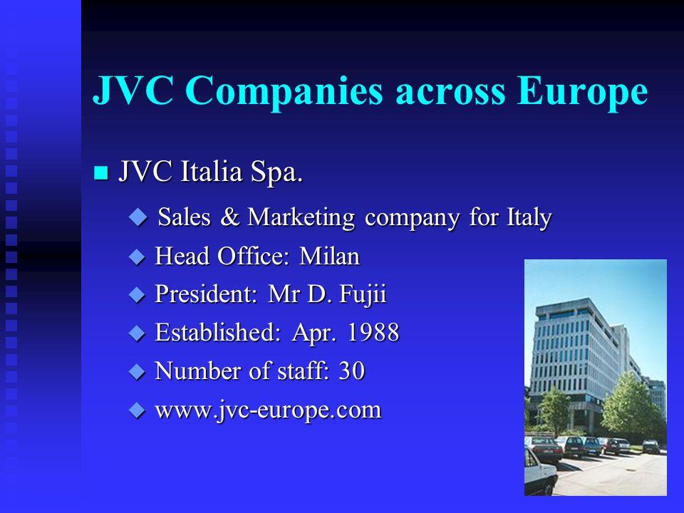 JVC Companies across Europe n JVC Belgium S.A.