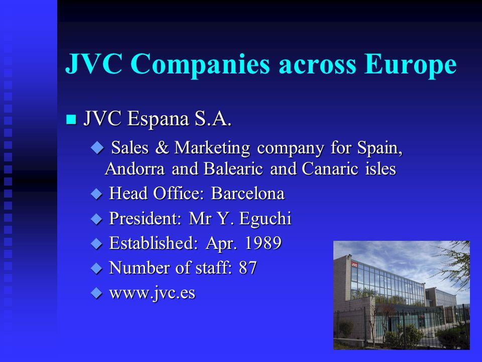 JVC Companies across Europe n JVC Italia Spa.