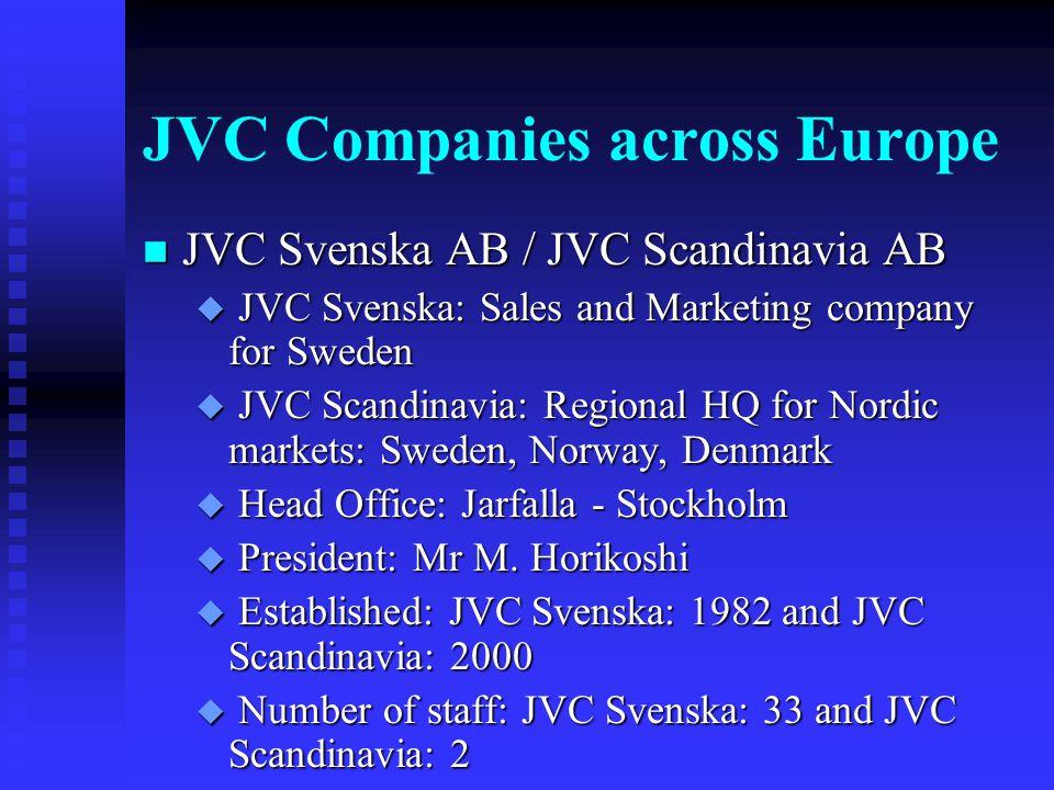 JVC Companies across Europe n JVC Espana S.A.