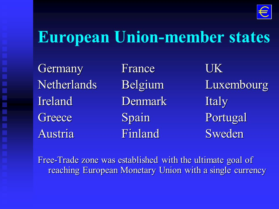 EU and EMU n JVC Europe Company covers over 50 countries across West & East Europe n The European Union (EU) countries form the backbone of all commercial activities inside Europe and with trade to non- European markets