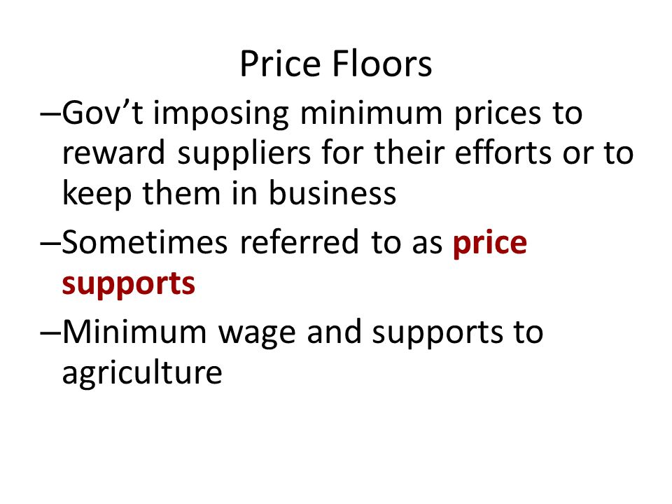 Price Ceilings Demand 1 Supply 1 Government intervention to keep prices low so there is a ceiling set on prices that they can not go above.