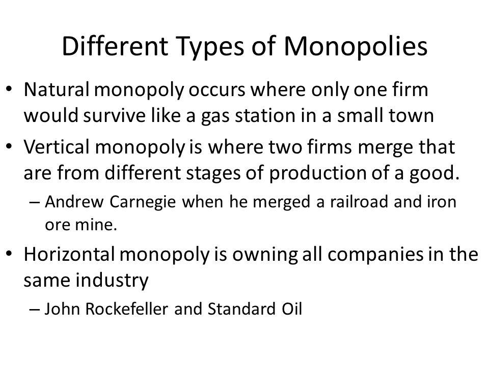 Four Market Structures cont.