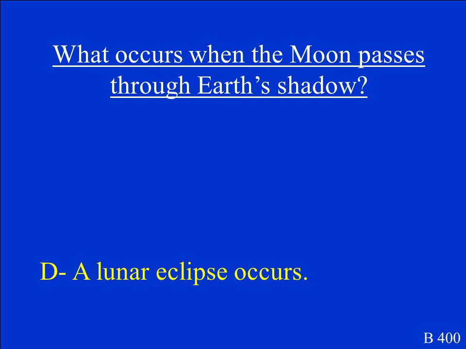 What occurs when the Moon passes through Earth's shadow.