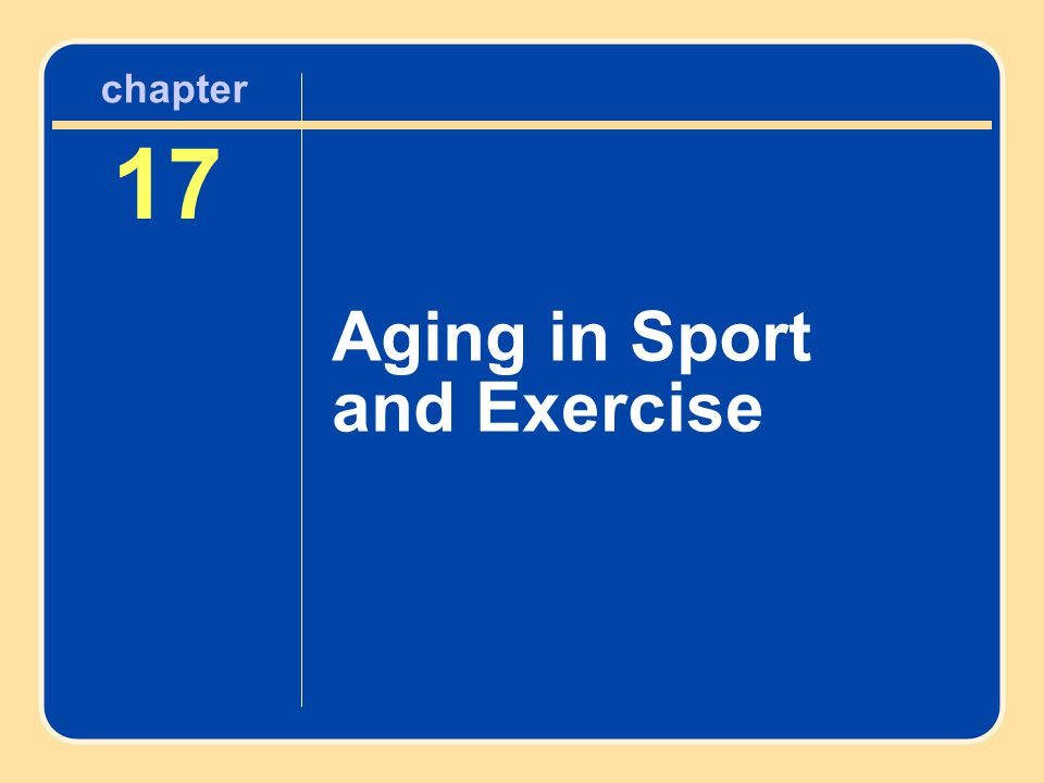 17 Aging in Sport and Exercise chapter