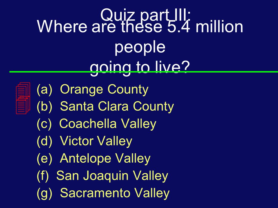 Where are these 5.4 million people going to live.