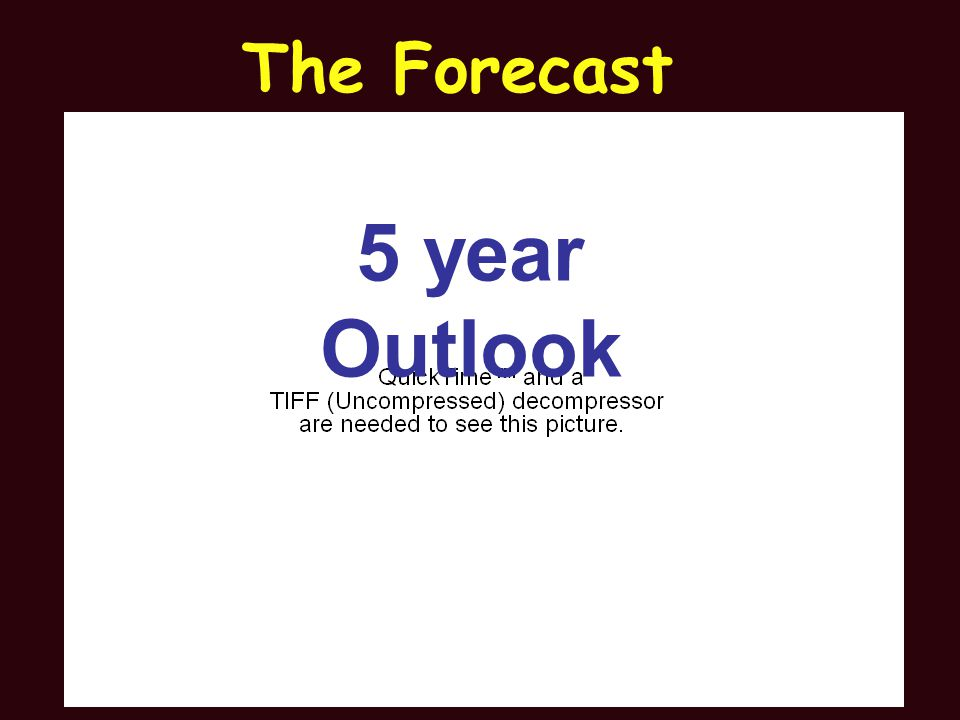 5 year Outlook The Forecast