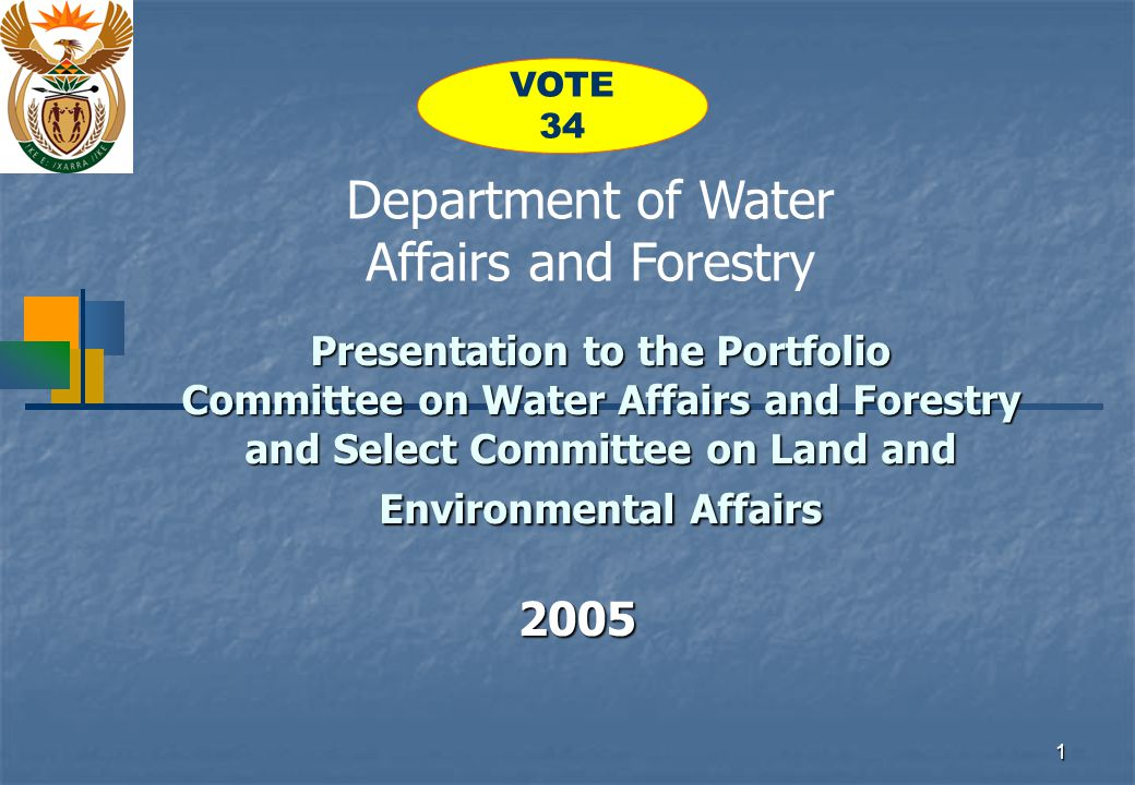 2 Department of Water Affairs and Forestry 2005/06 Total Expenditure