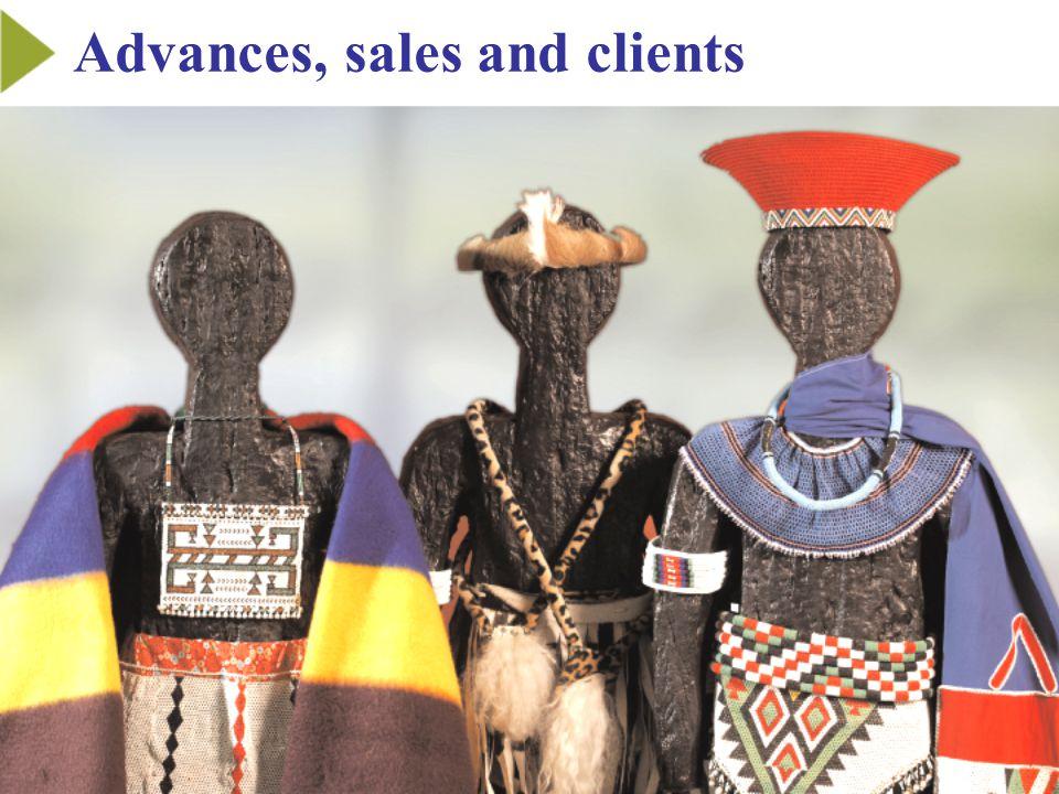 Advances, sales and clients
