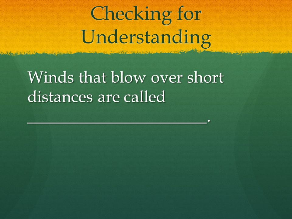 Global Wind Belts ( cont.) About 10 kilometers above Earth's surface are bands of high-speed winds called jet streams.