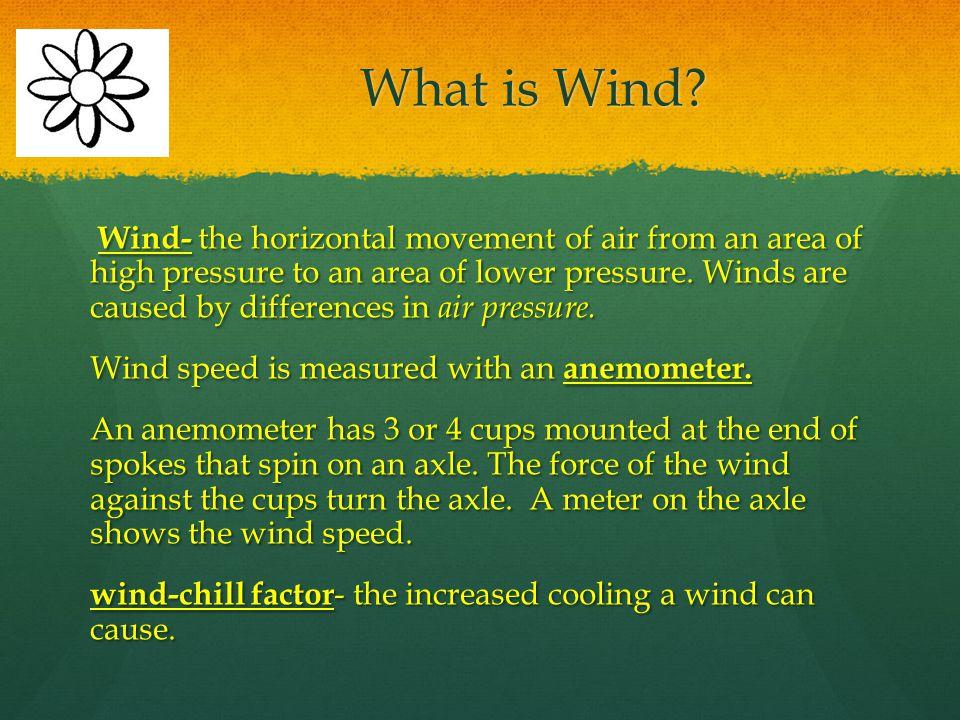 Language of the Discipline Wind Coriolis effect Wind Coriolis effect Anemometer latitude Anemometer latitude Wind-chill factor jet stream Wind-chill f