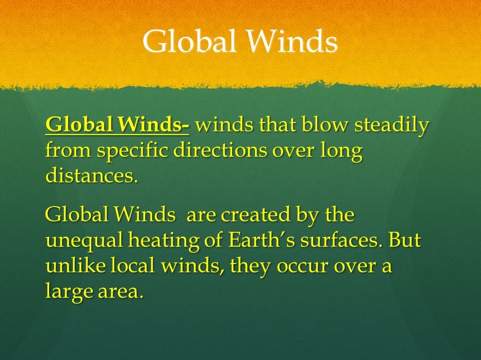 Local Winds Local Winds- winds that blow over short distances. Local Winds- winds that blow over short distances. Local Winds are caused by the unequa