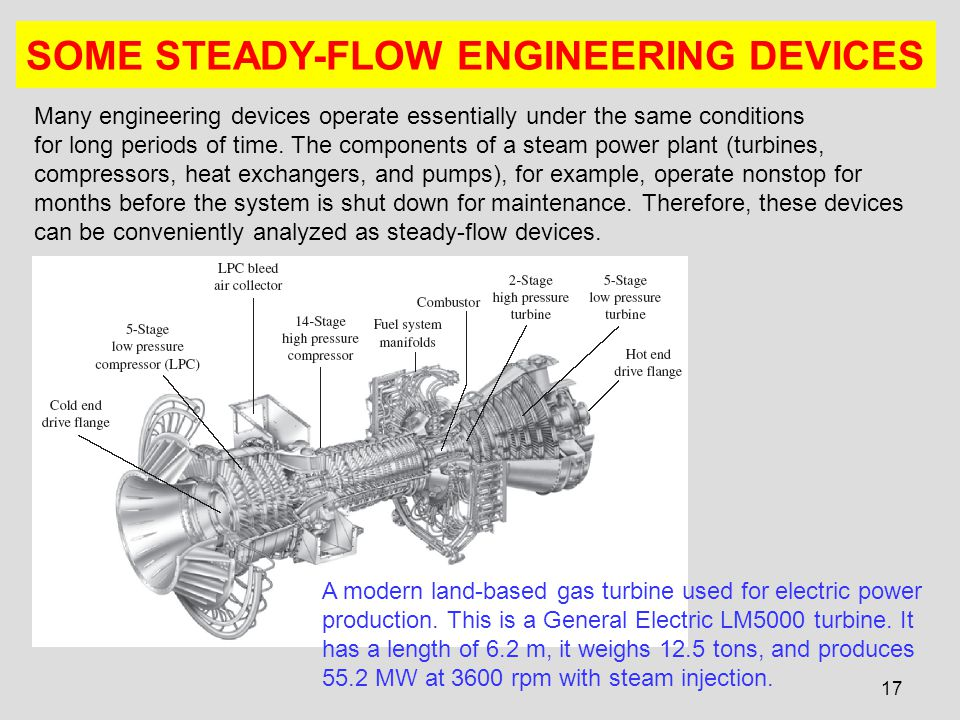 17 SOME STEADY-FLOW ENGINEERING DEVICES Many engineering devices operate essentially under the same conditions for long periods of time. The component