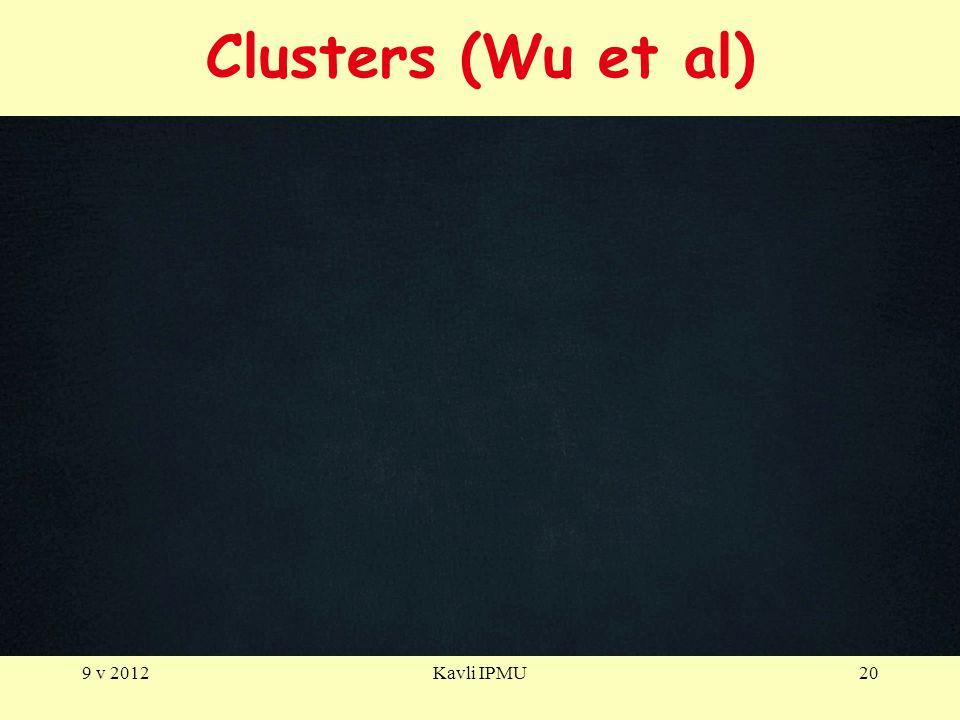 Clusters (Wu et al) 9 v 2012Kavli IPMU20