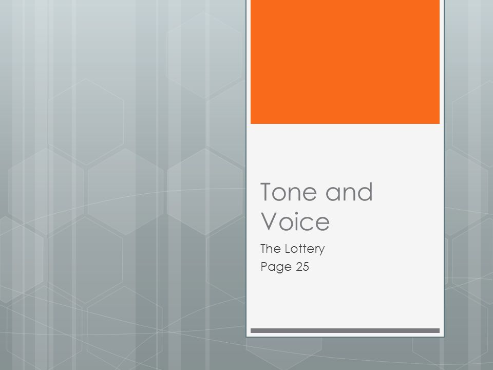 Tone and Voice The Lottery Page 25