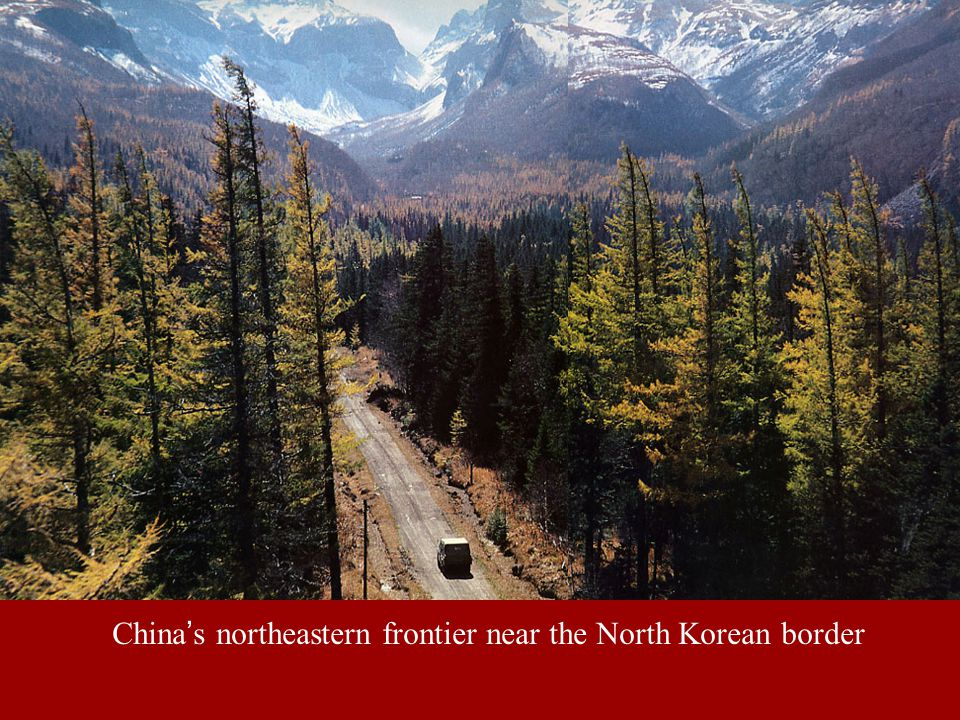 China's northeastern frontier near the North Korean border