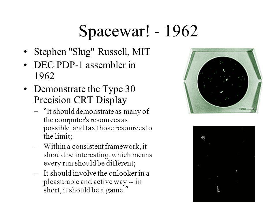 Spacewar! - 1962 Stephen